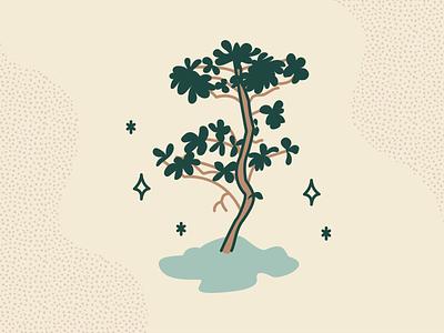 ~*~ sparkly bush ~*~ plant illustration plant branding illustration adobe illustrator cc vector illustrator