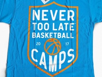 NTL basketball camp shirt design