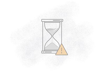 Message expiring icon hourglass branding adobe illustrator cc vector illustration illustrator expiring icon design iconography icon