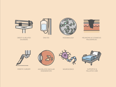 Misc medical subspecialties icons