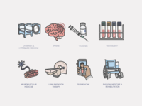Misc medical technology icons
