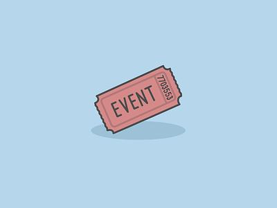 Ticket icon actor image event ticket adobe illustrator cc vector illustration illustrator icon design iconography icon