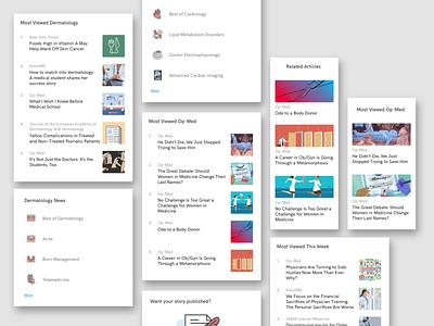 Article page sidebar components xd medical design medical app web design user interface design articles sidebar menu sidebar news feed newsfeed component article design article page ui  ux ux design ux ui design ui