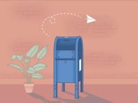 Illustration for email unsubscribe page