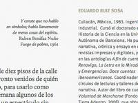 La Junta de Carter typography calluna layout
