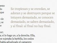 Sumario de La Junta de Carter typography quote calluna