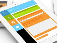iPad app layout design