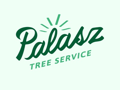Palasz Trees - Hand Drawn Logo branding design script calligraphy light green green graphic design branding agency wordmark logotype typography handdrawntype handlettering branding and identity branding iconography clean brand minimal logo