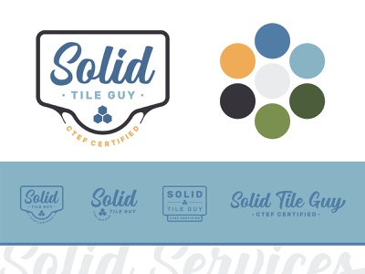 Solid Services Logo - Tiling Service badge logo lockup wordmark logotype script vintage bright graphic design illustrator flat iconography tiling retro icon design clean brand minimal logo