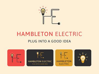 Hambleton Electric - Logo Suite Design graphic design identity iconography clean brand illustrator flat minimal icon typography vector branding logo illustration design