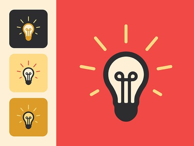 Hambleton Electric Bulb Icon illustrator flat minimal icon typography vector branding logo illustration design