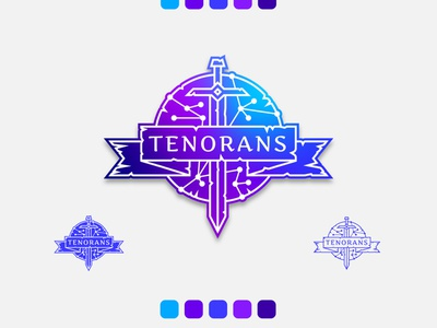 Tenorans RPG Logo Design graphicdesign logodesign tenora tenorans rpg magical magic gradient illustration art illustration flat vector typography icon branding clean brand design minimal logo