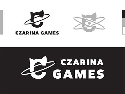 Czarina Games Logo Design branding and identity energy blackandwhite game design games typography logodesign logotype branding design graphic flat vector iconography icon branding clean brand design minimal logo