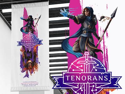 Tenorans Event Banner Design typography graphic design rebound poster design gradient bright roleplaying rpg banner poster branding magical magic vector design logo
