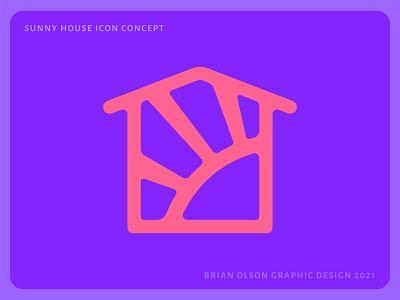 Sunny House Icon Concept color vibrant designer logos icon graphicdesign logodesign identity flat vector iconography branding clean brand minimal design logo