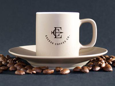 Excess Coffee Co. Logo Design monogram coffee bean coffee shop coffee cup graphicdesign coffee excess e circle typography flat vector icon branding clean brand minimal design logo