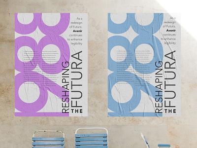 Type Specimen Poster: AVENIR FROM FUTURA graphic design brand branding flat vector letter cropping clean design minimal posterdesign poster type typography avenir next avenir futura