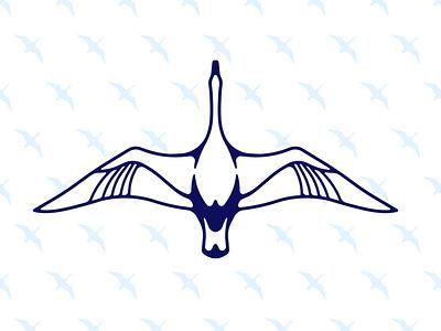 Double Goose Mark graphic graphic design style print doubleimage goose vector illustration icon branding clean brand minimal logo design