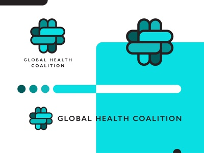 Global Health Coalition Logo Suite Design nonprofit charity healthcare health green blue 2d graphic design vector icon branding clean brand minimal logo design