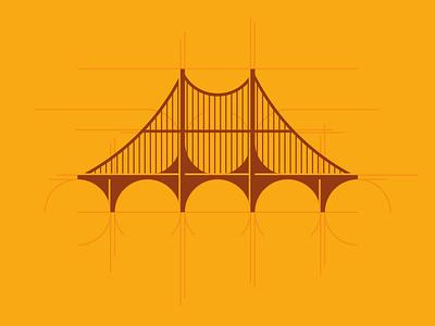 Bridge Icon Design graphic design schematic detail flat bridge vector logo illustration icon branding clean brand minimal design