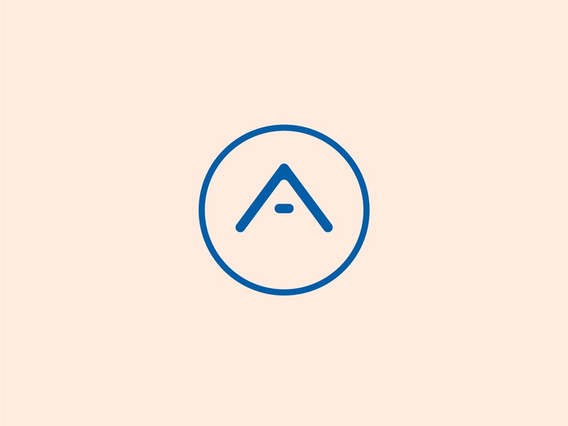 A-Team Logo pink identity vector minimal illustrator flat clean brand branding design graphicdesign triangle team a circle blue iconography icon logodesign logo