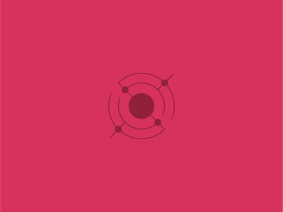 In Orbit identity illustrator iconography vector minimal icon flat design clean branding brand logo rotation mars red scifi orbit astronaut outer space space