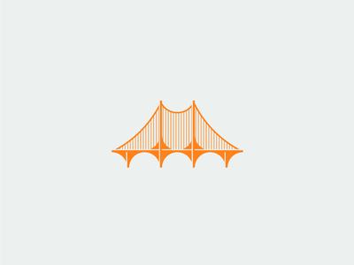 (a)Bridged gold illustrator iconography vector minimal icon illustration flat design clean branding brand logo