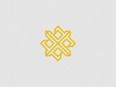 X-Logo typography illustration locked powerful bold proud silver gold yellow mark logo icon interlocking interlock box x