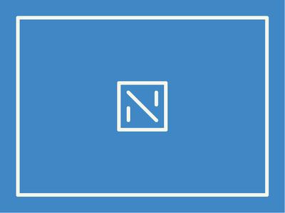 Negative adobe illustrator illustration illustrator vector minimal iconography design clean brand box stroke monoweight line cream blue icon mark logo n logo n