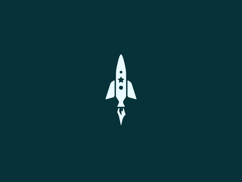 Rocketeer freelance adobe illustrator adobe minimal logodesign blue green identity illustration iconography design clean brand icon logo