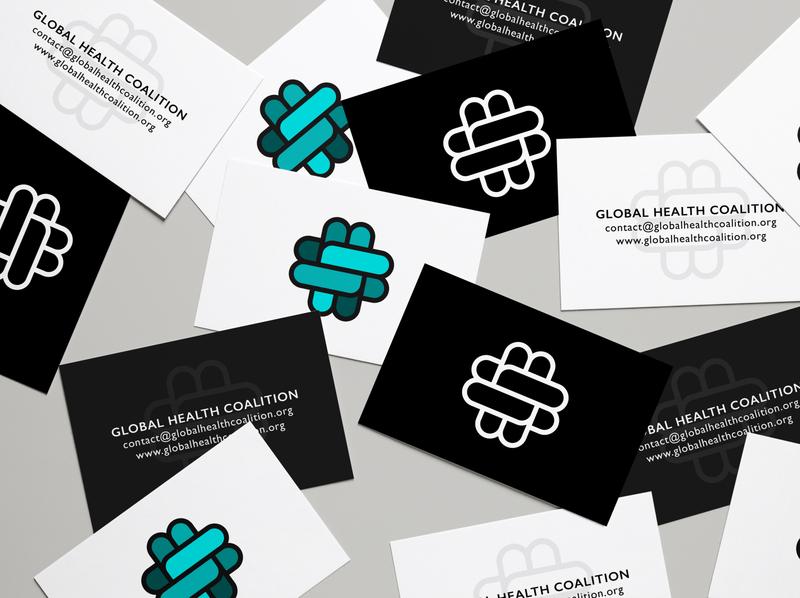 Global Health Coalition Business Cards logodesign logo brand identity minimal powerful icon clean cross health businesscards cards best business brand