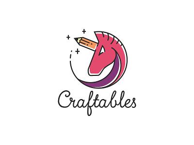 Arts & Crafts supplies logo handmade logo visual identity branding stationery logo ecommerce logo logo colors pencil unicorn pencil logo unicorn logo unicorn stationery arts and crafts
