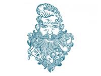 Hipster Barber Shop Art