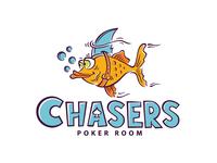 Poker room logo & handmade lettering