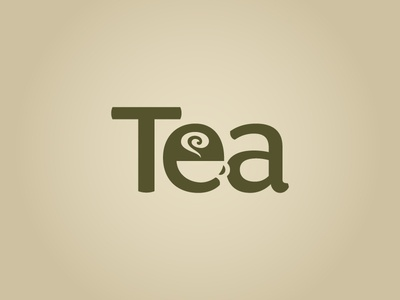 5 min concept just for fun :) tea cup typography tea negative space