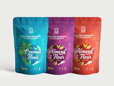 Coconut & almond flour packaging