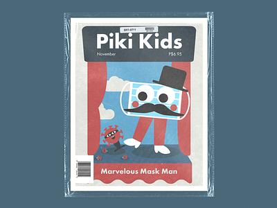 Piki Kids logo student portfolio branding typography illustration design
