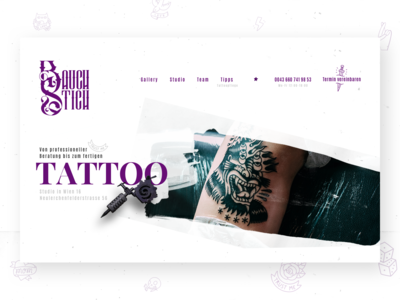 Animated Header for a Tattoo Shop