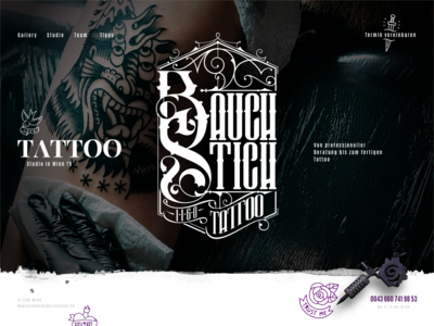 Tattoo Shop Header Concept