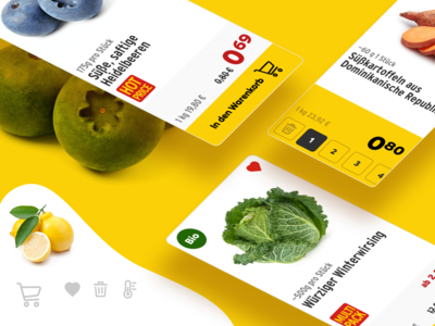 Product card for a grocery shop