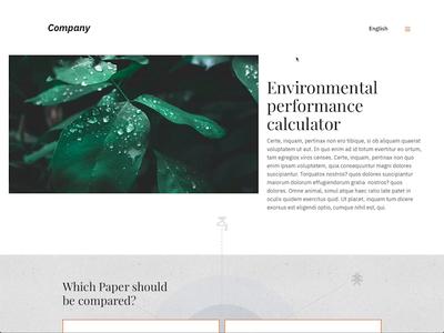 Environment performance paper calculator