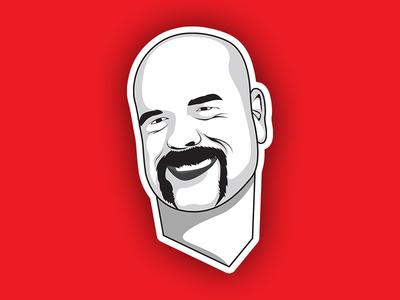 Minimal Vector Cartoon Portrait