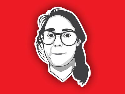 Minimal Cartoon Portrait Illustration