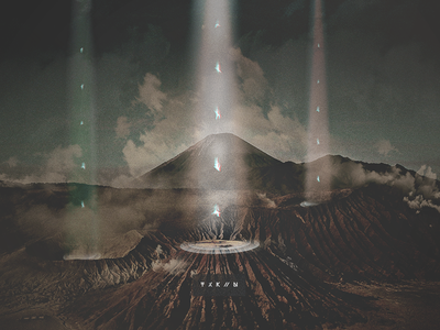 T X K // N grain scenery mountains photoshop falling silhouette glitch desert dry warm taken