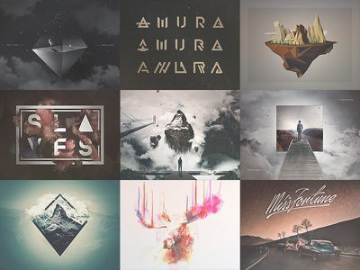 • TØP 9 SHØTS | 2016 • manipulation artwork album cover art type lettering design shots year 2016 9 nine