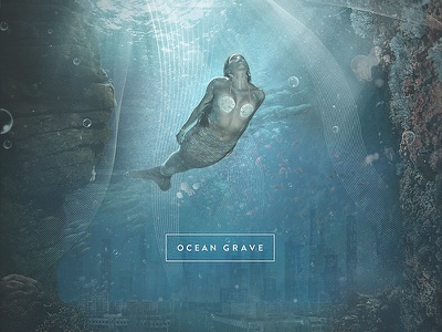 OCN // GRV float bubbles abandoned deep mermaid coral underwater water cd cover cover album artwork