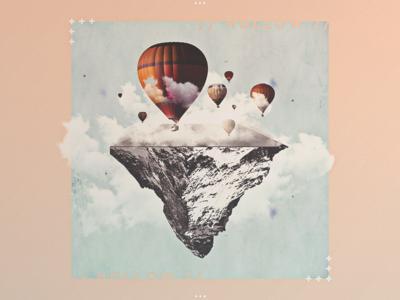 / HØLLØW / grain float fly warm minimal cloudy empty inside mountain hollow noise balloon