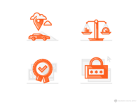 Sixt Car Rental Icons for Web