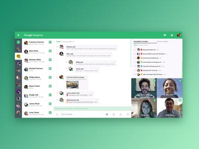 Google Hangouts - UI Redesign