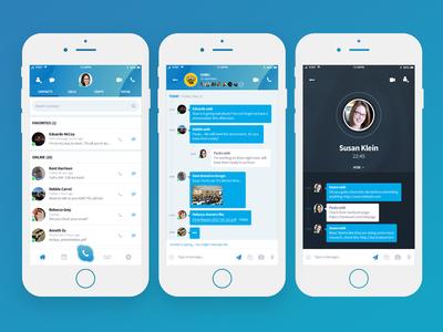 Skype - UI Redesign of Mobile App